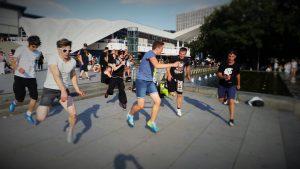 Alex Outreach - Perspektive und Hoffnung @ Alexanderplatz Berlin, Fernsehturm bei den Wasserspielen